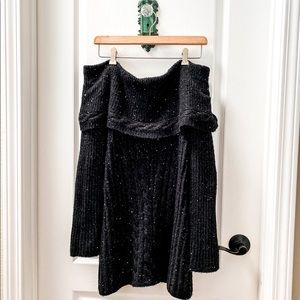 Moth By Anthropologie Black Sequin Sweater